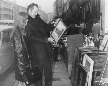 Vincent Price and Jane Asher in Portobello Road Markets