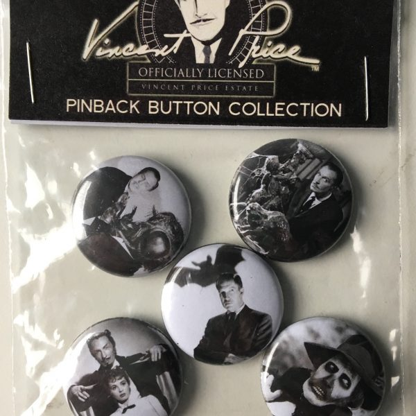 Vincent Price Pinback Button Collection