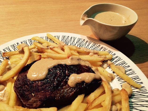 Steak Moutarde Flambé