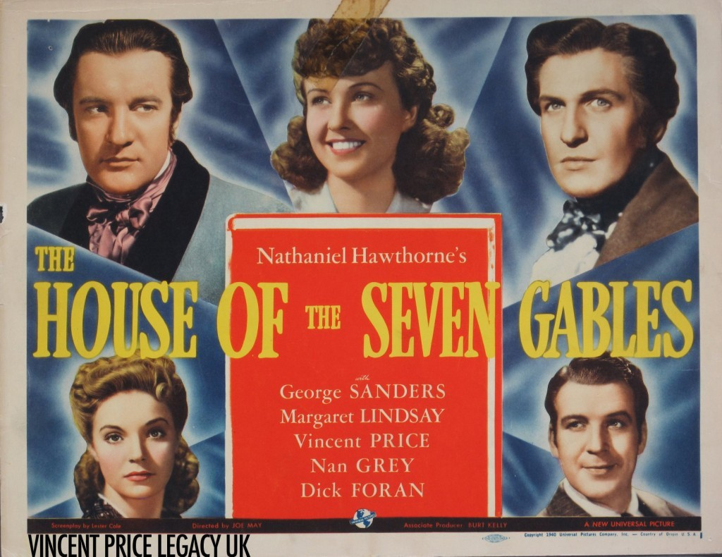 The House of Seven Gables (1940) | US Lobby Card